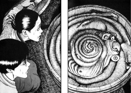 Uzumaki Junji Ito spiral human father creepy