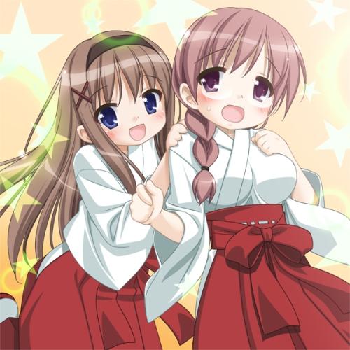 miko yuri sono hanabira kaede sara chibi