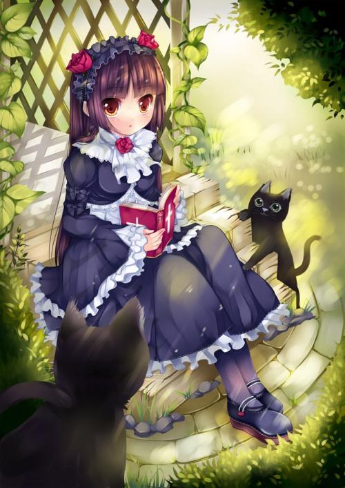 duji amo gokou ruri gothic lolita fashion neko ore no imouto Kuroneko