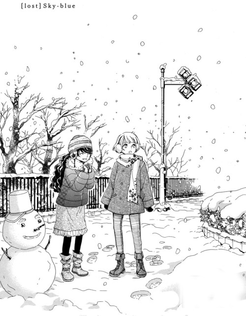 Sorairo Girlfriend Chapter 5 Hiromi Juri sky blue snow