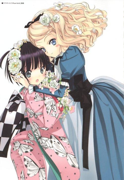 alice blanche ikoku meiro no croisee kimono lolita fashion takeda hinata yune