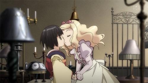Ikoku Meiro no Croisee Alice Blanche kiss Yune yuri