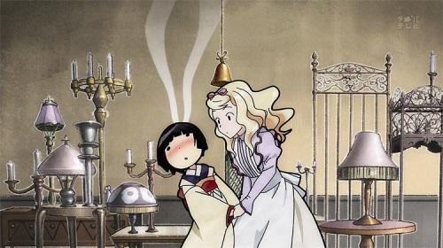 Ikoku Meiro no Croisee Alice Yune yuri flushed kiss
