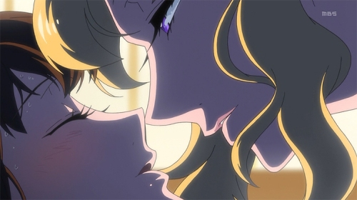 Mawaru Penguindrum yuri kiss