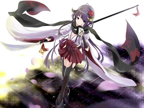 inu x boku ss kimono poker face 008 shirakiin ririichiyo thighhighs