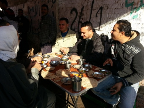 Streets of Benha breakfast